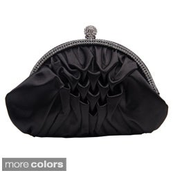 J. Furmani Women's Satin Rhinestone Arc Clutch