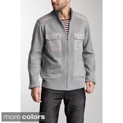 X-Ray Jeans Men's 'Zack' Mixed Media Sweater