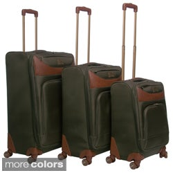 Caribbean Joe 2671 &#39;Castaway&#39; 3-piece Spinner Luggage Set