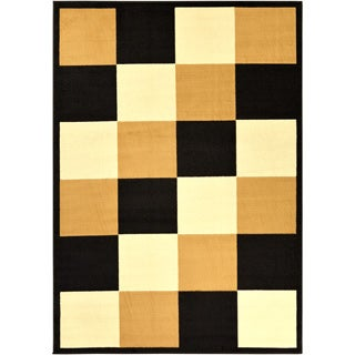 Large Paterson Collection Checkered Multicolor Area Rug (8'2 x 9'10)
