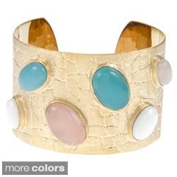 Rivka Friedman Bold Bezel Set Gem Cuff Bracelet