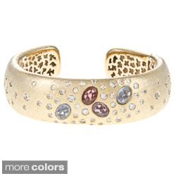 Rivka Friedman Burnished Gemstone Cuff Bracelet