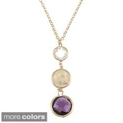 Rivka Friedman Gold Overlay Graduated Gemstone Necklace
