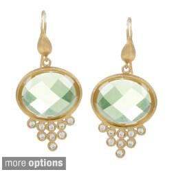 Rivka Friedman Crystal Leverback Earrings
