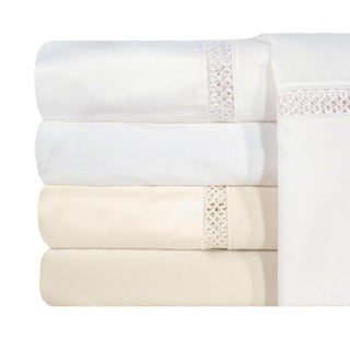 Grand Luxe Egyptian Cotton Payton 1200 Thread Count Sheet Deep Pocket Separates and Pillowcase Pair Separates