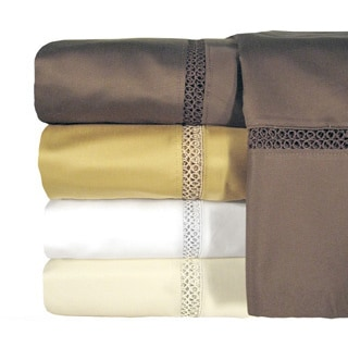 Grand Luxe Egyptian Cotton Payton 800 Thread Count Deep Pocket Sheet and Pillowcase Pair Separates