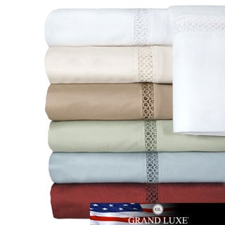 Grand Luxe Egyptian Cotton Payton 500 tc Deep Pocket Sheet Seperates or Pillowcase Pair Separates