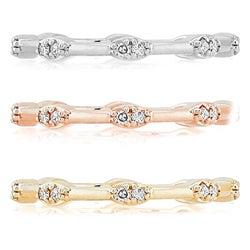 Victoria Kay 14k Gold 1/10ct TDW Diamond Stackable Ring (J-K, I2-I3)