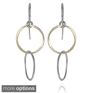 Journee Collection Sterling Silver Circle Dangle Earrings