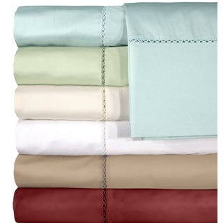 Grand Luxe Egyptian Cotton Bellisimo 500 Thread Count Deep Pocket Sheet Seperates or Pillowcase Pair Separates
