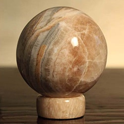 Calcite and Jasper 'Inner Peace' Sphere , Handmade in Peru