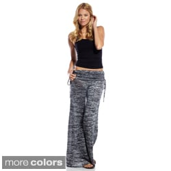 Elan Women&#39;s Extra Wide Cinched Waist Casual Pants