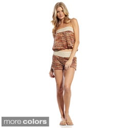 Elan Women&#39;s Strapless Crocheted Band Top