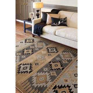 Meticulously Woven Southwestern Aztec Wheat Nomad Barley Area Rug (5'3 x 7'6)