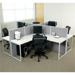 Office Star 'The Box' 4-cubicle Workstation