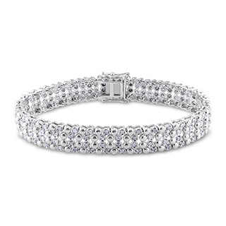 Sterling Silver 2ct TDW Diamond Tennis Bracelet (H-I, I2-I3)