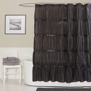 Lush Decor Twinkle Black Shower Curtain