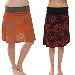 Mandala Print Summer Short Skirt (Nepal)