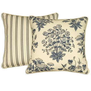 Rose Tree Newport 18-inch Reversible Throw Pillow