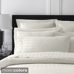 Damask Stripe Rayon from Bamboo/ Organic Cotton 400 Thread Count Sham (Set of 2)
