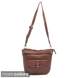 Stone Mountain 'Town and Country' Leather Hobo Bag
