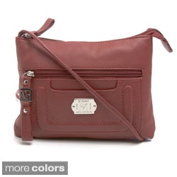 Stone Mountain 'Greenwich Midi' Leather Crossbody Bag