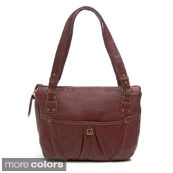 Stone Mountain Dallas East/ West Leather Tote Bag