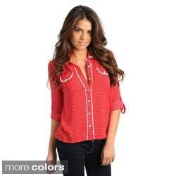 Stanzino Women's Dotted Button-down Shirt