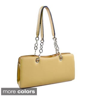 Dasein Women's Leatherette Chain Strap Shoulder Bag