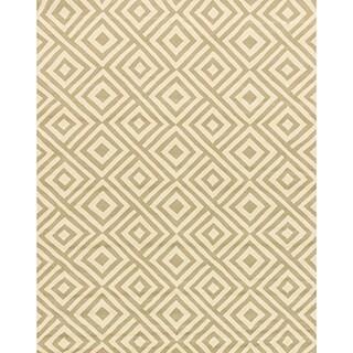 Hand-hooked Indoor/ Outdoor Capri Grey/ Ivory Area Rug (7'6 x 9'6)