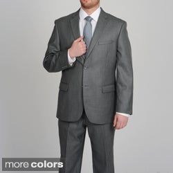 Caravelli Men&#39;s Grey Shark Pattern 2-button Suit