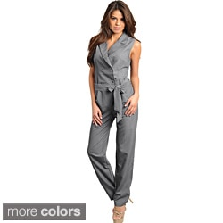 Stanzino Women's Sleeveless Button-front Jumpsuit