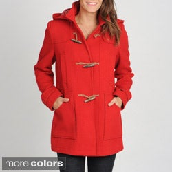 Tommy Hilfiger Women&#39;s Toggle Front Hooded Duffle Coat