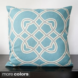 Dallas Geometric Trellis Decorative 18 x 18-inch Pillow