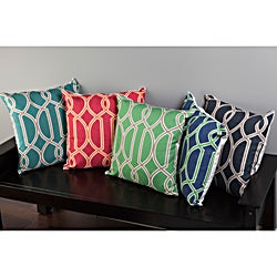 Dalia Geometric Trellis 18x18-inch Decorative Pillow