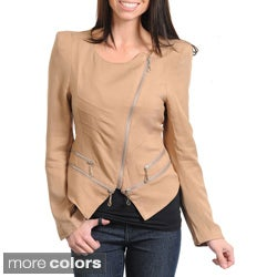 Stanzino Women's Asymmetrical Zip-up Jacket