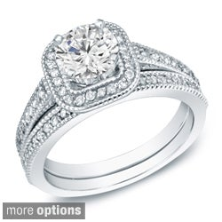 14k Yellow or White Gold 1ct TDW Diamond Bridal Ring Set (H-I, SI1-SI2)