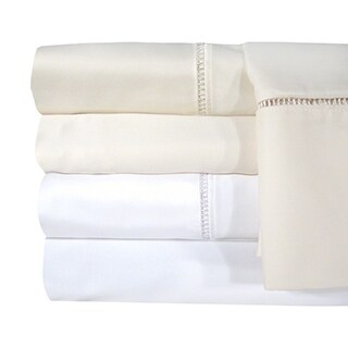 Veratex Egyptian Cotton Linford Hemstitch 1200 Thread Count Sheet Separates or Pillowcase Pair Separates
