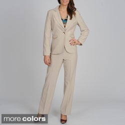 Signature by Larry Levine Women's Chain Detailed Pant Suit