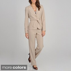 Atelier Women's 2-button Waist Tie Pant Suit