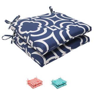 Pillow Perfect Outdoor Carmody Squared Seat Cushions (Set of 2)
