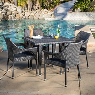 Christopher Knight Home Cliff Outdoor 5-piece Wicker Dining Set
