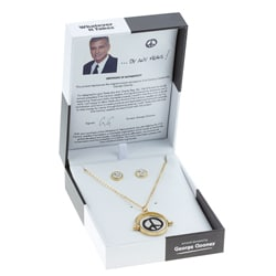 Whatever it Takes George Clooney Peace Sign Spinner Jewelry Set
