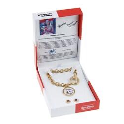 Whatever It Takes Katy Perry Chain Link Bracelt/ Stud Set