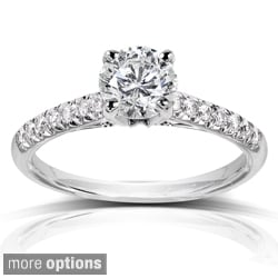14k Gold 1 1/6ct TDW Princess or Round Solitaire Diamond Engagement Ring (H-I, I1-I2)