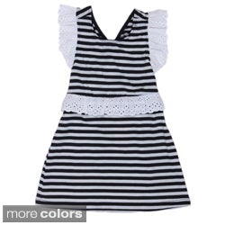 Funkyberry Girls&#39; Strapped Back Nautical Dress