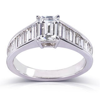 Annello 14k White Gold 2 1/5ct TDW Certified Diamond Ring (F, SI1)