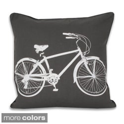 Bicycle 20x20-inch Decorative Throw Pillow