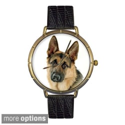 Whimsical Women's German Shepherd Photo Watch