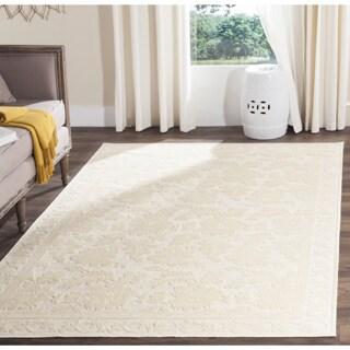 Martha Stewart Peony Damask Cream Viscose Rug (2' 7 x 4')